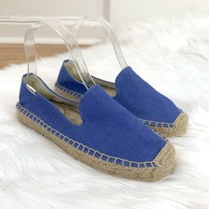 NWOT Soludos Blue Espadrille Flats Loafers Size 7